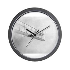 The 1902 Wright Glider Close- Wall Clock