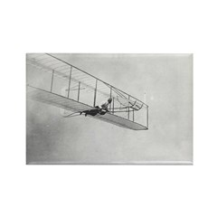 The 1902 Wright Glider Close- Rectangle Magnet