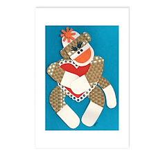 Sock Monkey Postcards (Package of 8)