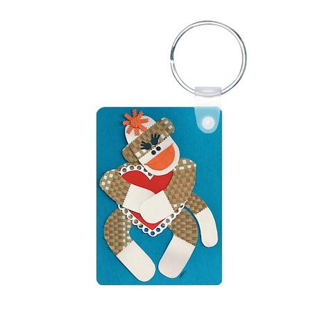 Sock Monkey Aluminum Photo Keychain