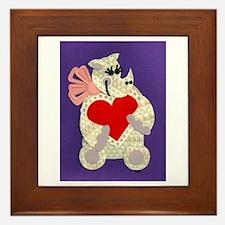 Rhino Love Framed Tile