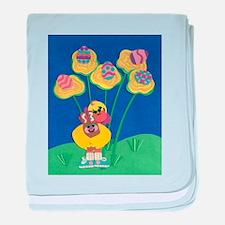 Easter Duckie baby blanket
