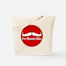 Free Mustache Rides Tote Bag
