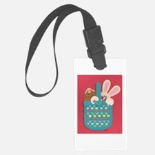 Bunny in a Basket Luggage Tag