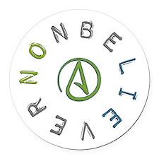 Nonbeliever Round Car Magnet