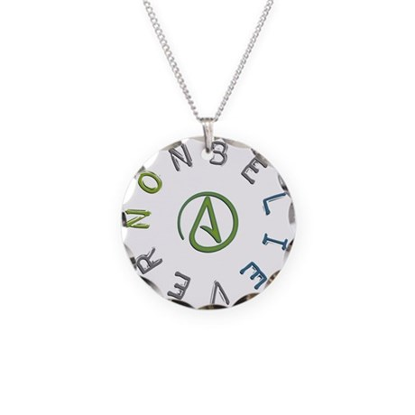 Nonbeliever Necklace Circle Charm