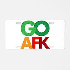 go afk Aluminum License Plate