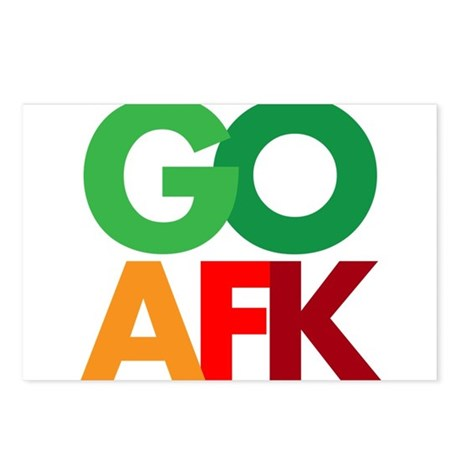 go afk Postcards (Package of 8)