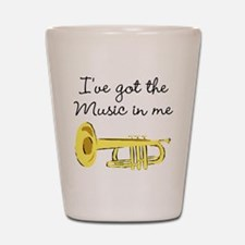 TRUMPET PLAYER Shot Glass
