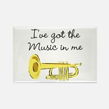 TRUMPET PLAYER Rectangle Magnet