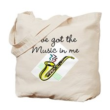 SAXOPHONE PLAYER Tote Bag