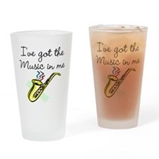 SAXOPHONE PLAYER Drinking Glass