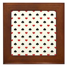Spades and Hearts Framed Tile