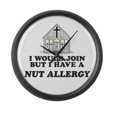 Nut Allergy Large Wall Clock