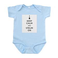 KEEP CALM AND STRUM ON Infant Bodysuit