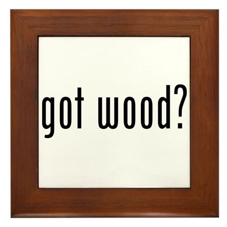 Got Wood Framed Tile