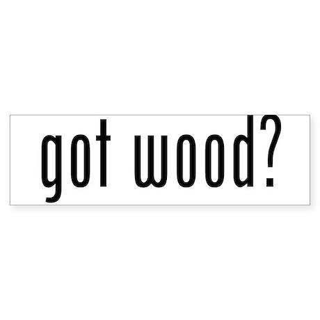 Got Wood Sticker (Bumper 10 pk)
