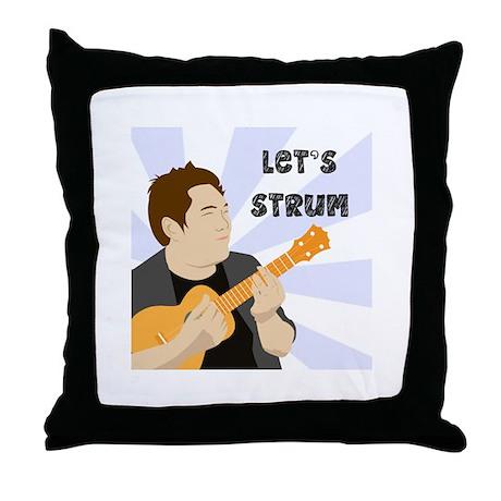 Let's Strum! Throw Pillow