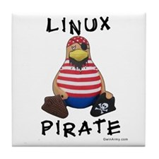 Linux Pirate Tile Coaster