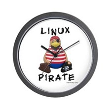Linux Pirate Wall Clock