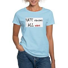 Women's Pink T-Shirt - hate war