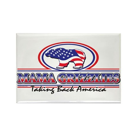 Mama Grizzlies Rectangle Magnet