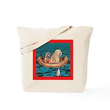 NIGHTTIME CANOE RIDE Tote Bag
