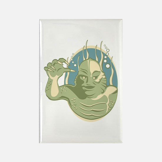 Creature from the Black Lagoon Rectangle Magnet