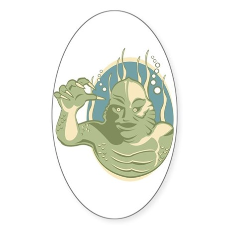 Creature from the Black Lagoon Sticker (Oval)