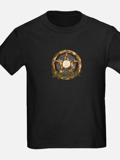 Gold Triple Moon Pentacle T