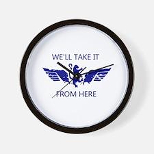 WingsLand WellTakeItWhite Wall Clock