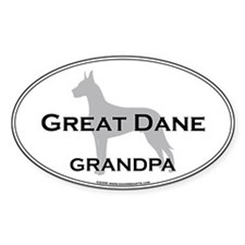 Great Dane GRANDPA Oval Decal