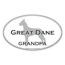 Great Dane GRANDPA Oval Decal