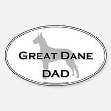 Great Dane DAD Oval Decal
