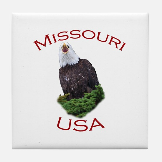 Missouri, USA...Screaming Bald Eagle Tile Coaster