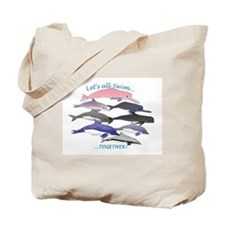 All Dolphins Lets Swim Together Tote Bag