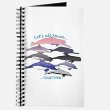 All Dolphins Lets Swim Together Journal
