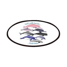 All Dolphins Lets Swim Together Patches