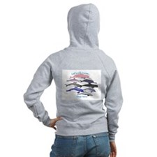 All Dolphins Lets Swim Together Zip Hoodie