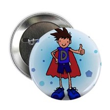 "Brunette D-Boy with Pump 2.25"" Button (100 pack)"