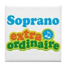 Soprano Extraordinaire Choir Tile Coaster