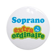 Soprano Extraordinaire Choir Ornament (Round)