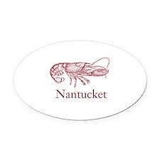 Nantucket Oval Car Magnet