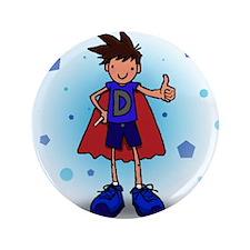 "Brunette D-Boy with Insulin Pen 3.5"" Button (100 p"