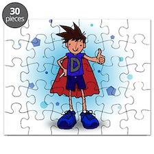 Brunette D-Boy with Insulin Pen Puzzle