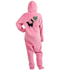 love-stinks-skunk.png Footed Pajamas