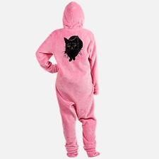black-kitty.png Footed Pajamas