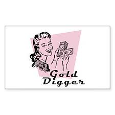 Gold Digger Rectangle Decal