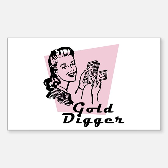 Gold Digger Rectangle Decal