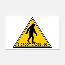 Bigfoot Crossing Sign Car Magnet 20 x 12
